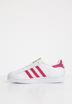 adidas Originals - Kids Superstar C - white/pink/white