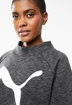 PUMA - Evo stripe sweat tee - grey