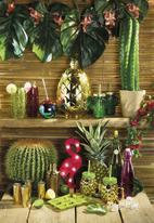 Kitchen Craft - 400ml Cactus glass drinks jar