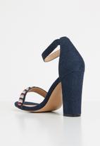 Plum - Ankle strap heels - navy