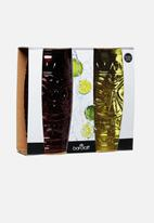 Kitchen Craft - Tiki glass gift set - 2 pack - green & red