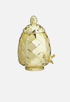 Kitchen Craft - 6 Litres glass pineapple drinks dispenser - gold