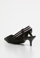 STYLE REPUBLIC - Bow detail slingback heels - black
