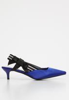 STYLE REPUBLIC - Bow detail slingback heels - blue