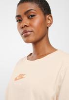 Nike - Air crop tee - peach