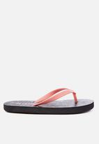 Cotton On - Printed flip flop - black & peach