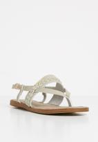 POLO - Sandy braided sandals - grey