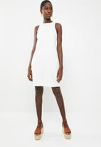 Superbalist - Hi neck lace dress - white
