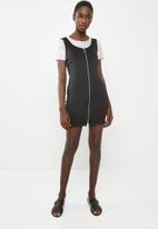 Superbalist - Zip front bodycon dress - black
