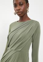 Superbalist - Draped mini dress - khaki