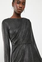 Superbalist - Draped mini dress - black
