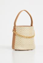 Superbalist - Lola weaved bucket bag - neutral