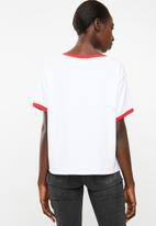 Levi's® - Graphic ringer tee - white & red