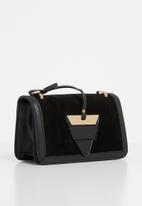 Superbalist - Demi envelope clutch PU - black