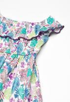 Twin Clothing - Frill tropical print dress - multi