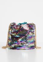 Missguided - Mini sequin drawstring bag - multi