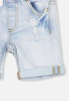Cotton On - Joey denim short - blue