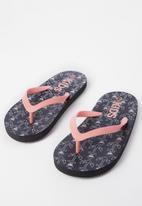 Cotton On - Printed flip flop - black & peach