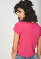 Cotton On - The baby tee - royal pink