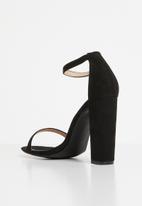 2c2b4c2a08c5 Angie strap block heel - black Superbalist Heels