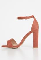 Superbalist - Angie strap block heel - mid pink