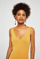 MANGO - Bow gown dress - yellow