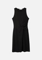 MANGO - Ruched detail dress - black