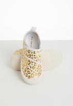 POP CANDY - Velcro strap sneaker - white &  gold