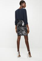 Vero Moda - Elenora sequins detail dress - navy