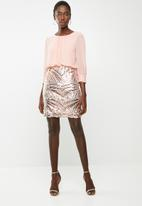 Vero Moda - Elenora sequins detail dress - pink