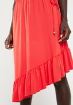 Vero Moda - Gloria assymetric dress - coral