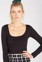 Supré  - Long sleeve tiny tee - black