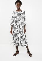 AMANDA LAIRD CHERRY - Morgan dress - black & white