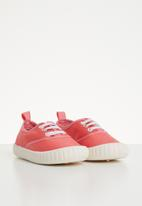 POP CANDY - Lace up sneaker - red & pink