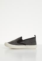 POP CANDY - Canvas slip on's - black