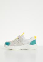 POP CANDY - Faux suede mesh sneaker - multi