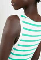 ONLY - Knot stripe top - green