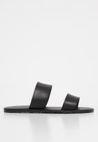 Superbalist - Two strap slide - black