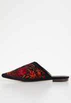 Dolce Vita - Bogota embroidered mules - black
