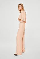 MANGO - Double layer jumpsuit - peach