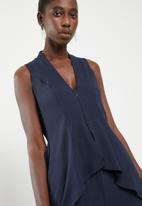Leigh Schubert - Moseley jumpsuit - blue