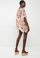 Lithe - Pullover kaftan with piping detail - multi
