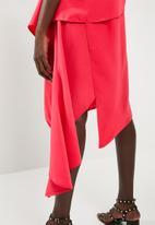 Leigh Schubert - Empire state dress  - cerise pink