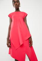 Leigh Schubert - Empire state dress  - cerise pink
