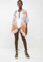 Joy Collectables - Aztec sunrise kimono - orange