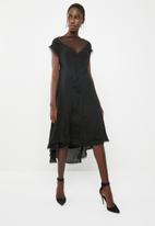 Leigh Schubert - Bella dress with mesh detail - black