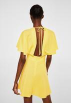 MANGO - Scoop back dress - yellow