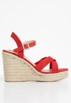 Cherry Collection - Cali espadrille wedges - red