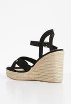 Cherry Collection - Cali espadrille wedges - black
