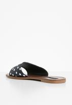 Cherry Collection - Polka dot sandals - black & white